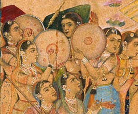 Jahangir celebrates Holi daff